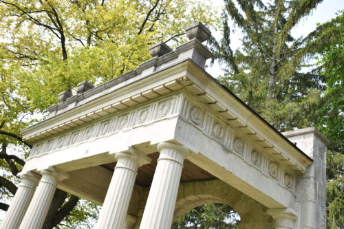 Portico structure on campus